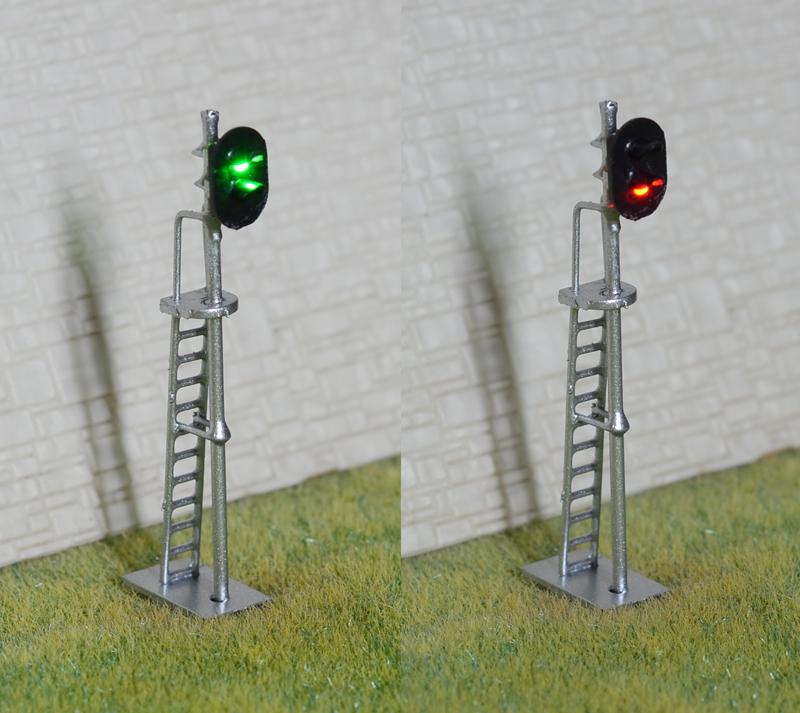 1 x HO scale model train block signal railroad LED light 2