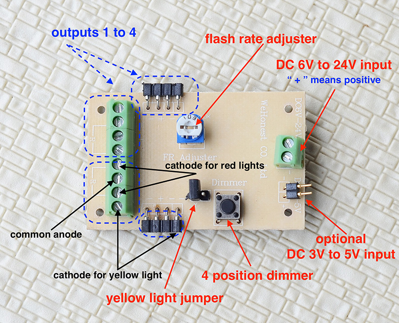 Parts & Accessories 1 x crossing signal circuit board flasher
