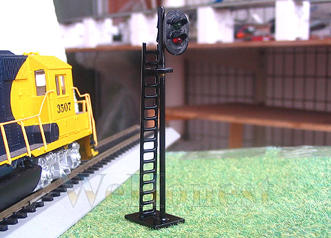 5 pcs OO or HO Scale 3mm LEDs made 2 aspect Railway LEDs Signals G//R #N