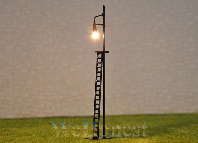 6 pcs HO OO gauge LED made Yard Lights Lampposts resistor /& cover  #R42-11