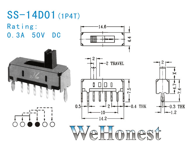 15 pcs slide switch 1p4t 4 positions signal control etc ebay Anatomy of Paddy Grain Cold Working Grain Structure