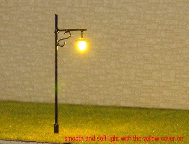 20 pcs HO Scale Model Lamppost Street Light SMD LED Made Courtyard Lamp #048